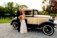 Sycamore Farm Gallery - Couple with Bridal Car