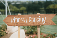 Sycamore Farm Gallery - Dinner Dancing sign